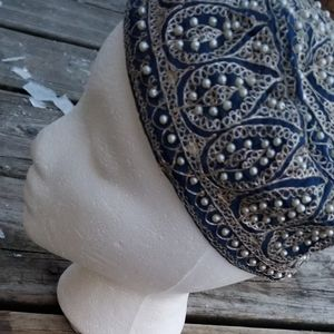 Kufi Beaded Embroidered Art Hat